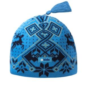 Detská pletená čiapka Kama BW17 115 tyrkysová