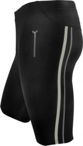 Pánske krátke bežecké nohavice Silvini Lambro MP614 black