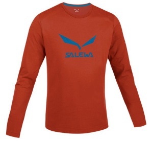 Tričko Salewa SOLIDLOGO CO M L/S TEE 25279-4801
