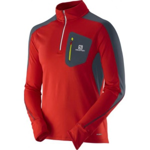 Rolák Salomon TRAIL RUNNER WARM LS ZP TEE M 370956