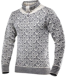Sveter Devold Svalbard sweater zips neck 396-410 020