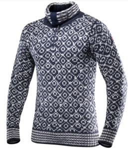 Sveter Devold Svalbard sweater zips neck 396-410 284