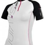 Dámsky cyklistický dres Silvini Cigno WD377 white-black