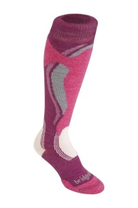 Ponožky Bridgedale Control Fit Midweight Women's 315 berry/pink