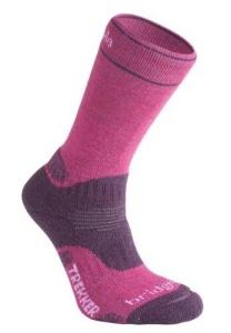 Ponožky Bridgedale WoolFusion Trekker CuPED Women's berry / plum 352