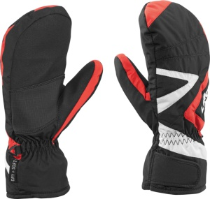 Rukavice LEKI Laax Junior Mitten black-red-white 634-82561