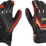 Rukavice LEKI Worldcup Race Coach Flex S GTX black-red-white-yellow 634-80123