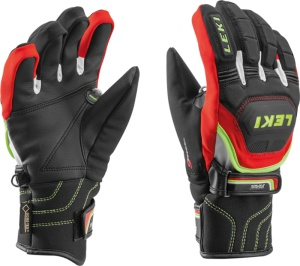 Rukavice LEKI Worldcup Race Coach Flex S GTX Junior black-red-white-yellow 634-80121