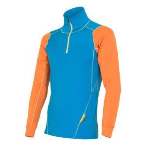 Pánske triko Sensor Thermo modrá / oranžová 14200018