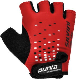 Detské cyklistické rukavice Silvini Punta UA14 red