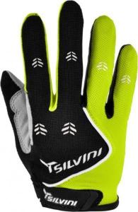 Detské cyklistické rukavice Silvini Barrata UA483J black-lime