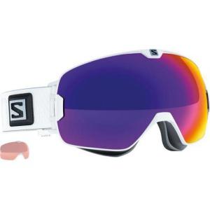 Lyžiarske okuliare Salomon Xmax Gecko White/Solar Infrared + Extra Lens 377891