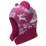 Detská pletená kukly-čiapky Kama B62 114 ružová