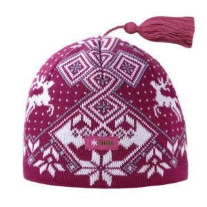 Detská pletená čiapka Kama BW17 114 ružová