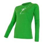 Dámske triko Sensor Merino Wool PT Pampeliška zelené 15200019