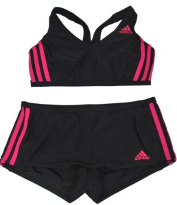 Plavky adidas 3 Stripes Two Piece AB6867