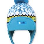 Detská pletená čiapka Kama B60 115 tyrkysová