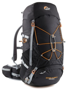 Batoh Lowe alpine Cholatse II 65:75 Large Black / pumpkin