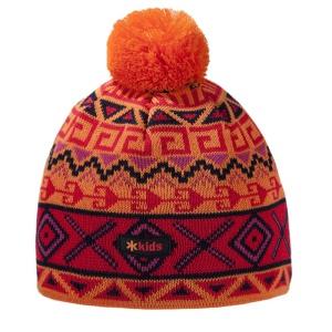 Detská pletená čiapka Kama B63 103 oranžová
