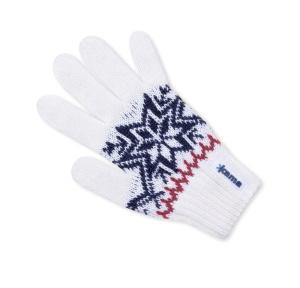 Detské pletené rukavice Kama RB10 100 biela