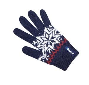 Detské pletené rukavice Kama RB10 108 tmavo modrá