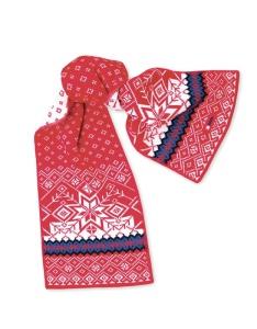 Pletená šál Kama SB06 104 červená