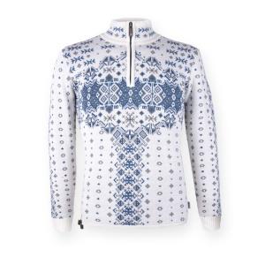 Dámsky sveter Kama 5334 100 biely