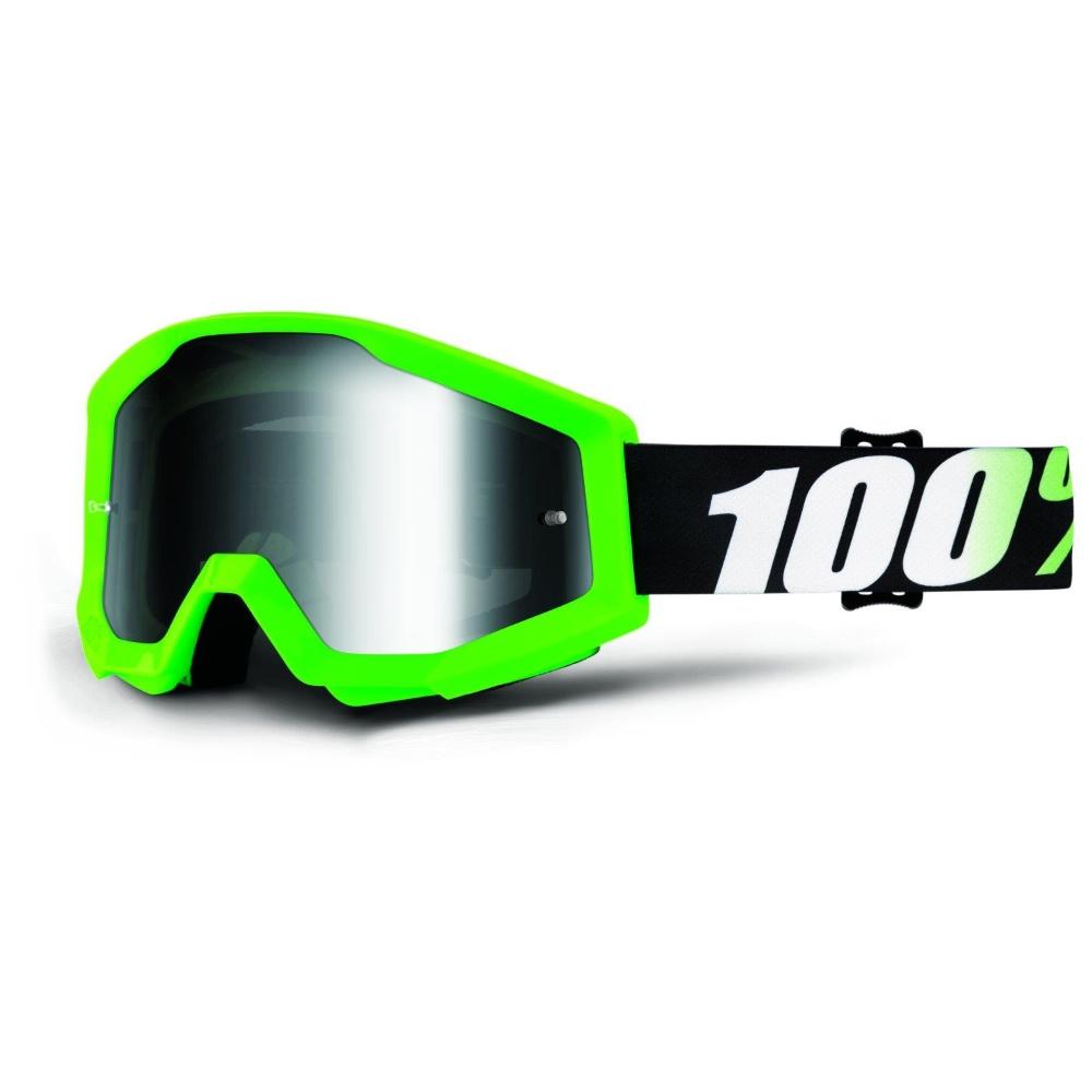 100% Strata Arkon svetlo zelená, číre plexi s čapmi pre trhačky