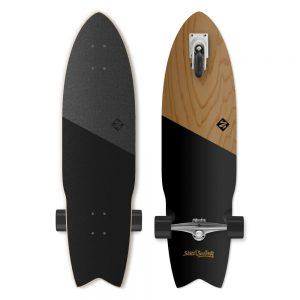 """Street Surfing Shark Attack Koa Black 36"""""""