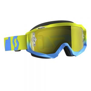 SCOTT Hustle MXVI oxide blue-green-yellow chrome