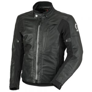 Scott MOTO Tourance Leather DP čierna – M (46-48)