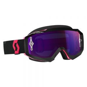 SCOTT Hustle CH MXVII black-fluo pink-purple chrome