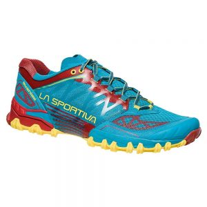 La Sportiva Bushido Men Tropical Blue/Cardinal Red – 43
