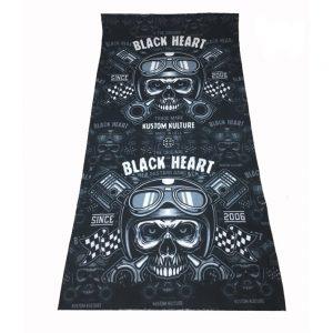 BLACKHEART Piston Skull čierna
