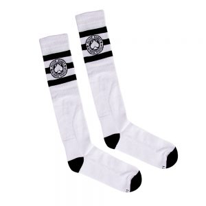 BLACK HEART Ace Of Spades Kneesocks biela – 8-9