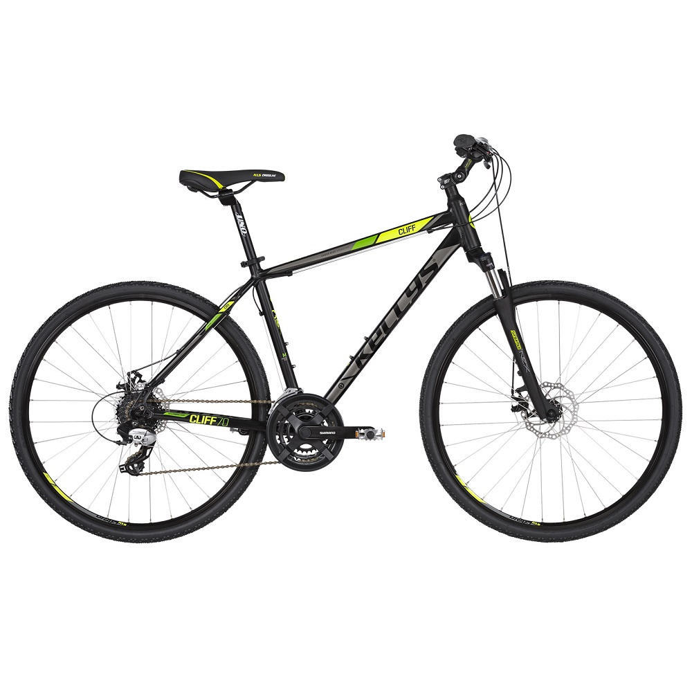 "Kellys CLIFF 70 28"" – model 2019 Black Green – S (17"")"