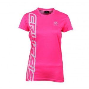 Crussis Dámské triko Crussis – krátký rukáv fluo ružová – XS