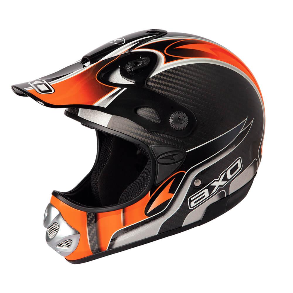 Axo MM Carbon Evo oranžová – S (55-56)