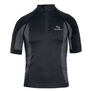 Brubeck Pánské termo tričko FIT s krátkým rukávem čierna – S
