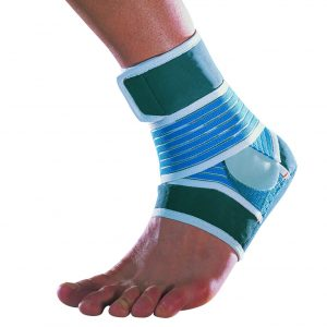Thuasne Zdravotní pásková bandáž podpora kotníku modro-zelená – M