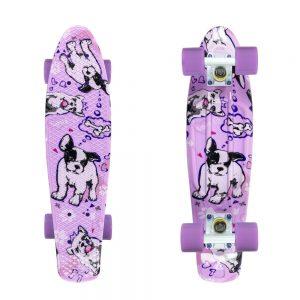 "Fish Print 22"" Dogs-White-Summer Purple"