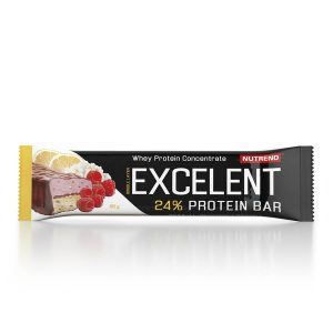 Nutrend Excelent Bar Double citron+tvaroh+malina s brusnicami