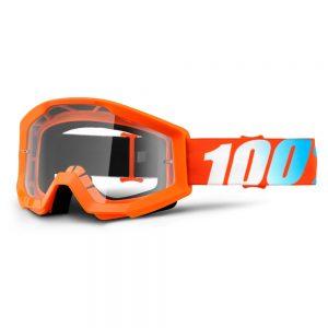 100% Strata Orange oranžová, čire plexi s čapmi pre trhačky