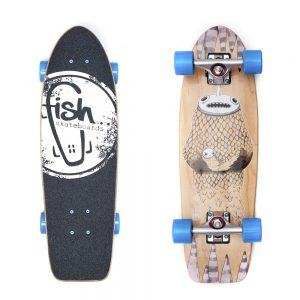"""Fish Old School Cruiser Narwhal 26"""" Silver-Blue"""