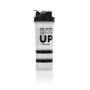 Nutrend Shaker s dávkovačem 450 ml+ priehľadná