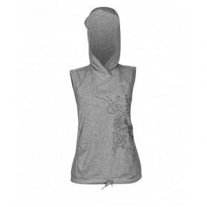 Newline Imotion Heather Hoodie šedá so vzorom – M