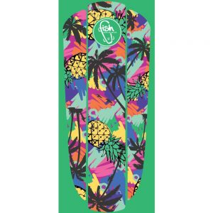 "Fish Nálepka na penny board Classic 22"" Green Hawaii"