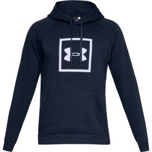 Under Armour Rival Fleece Logo Hoodie Academy/ White – L