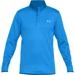 Under Armour Storm SF Heather Snap Mock Blue Circuit / Blue Circuit / White – S