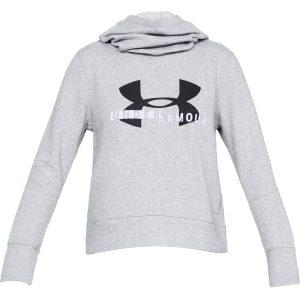Under Armour Cotton Fleece Sportstyle Logo Hoodie Steel Light Heather / Black / White – XS